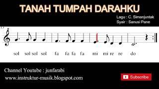 Tanah tumpah darahku - not balok dg doremi / sol mi sa si - instrumental by junfarabi