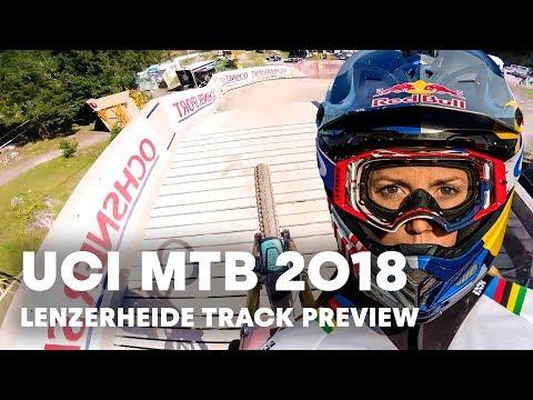Rachel Atherton Rides The Lenzerheide World Champs DH Track   UCI MTB 2018