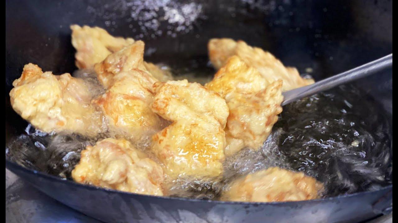 【若鶏の唐揚げウスターユーリン】油淋鶏 Fried chicken with sweet vinegar sauce. 飯テロ