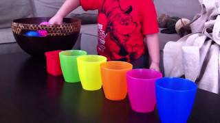 Learning Colors Activity for Toddlers and Preschool Kids.