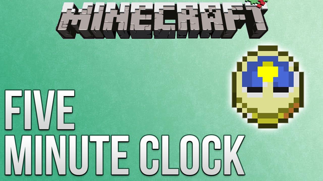 minecraft five minute clock tutorial redstone advent calendar