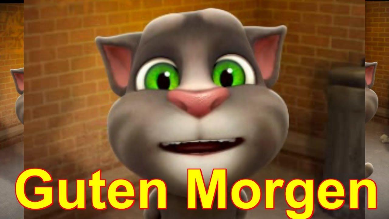 Guten Morgen Einen Schönen Tag Und Lasse Die Arbeit Mal Talking Tom Sprechende Katze
