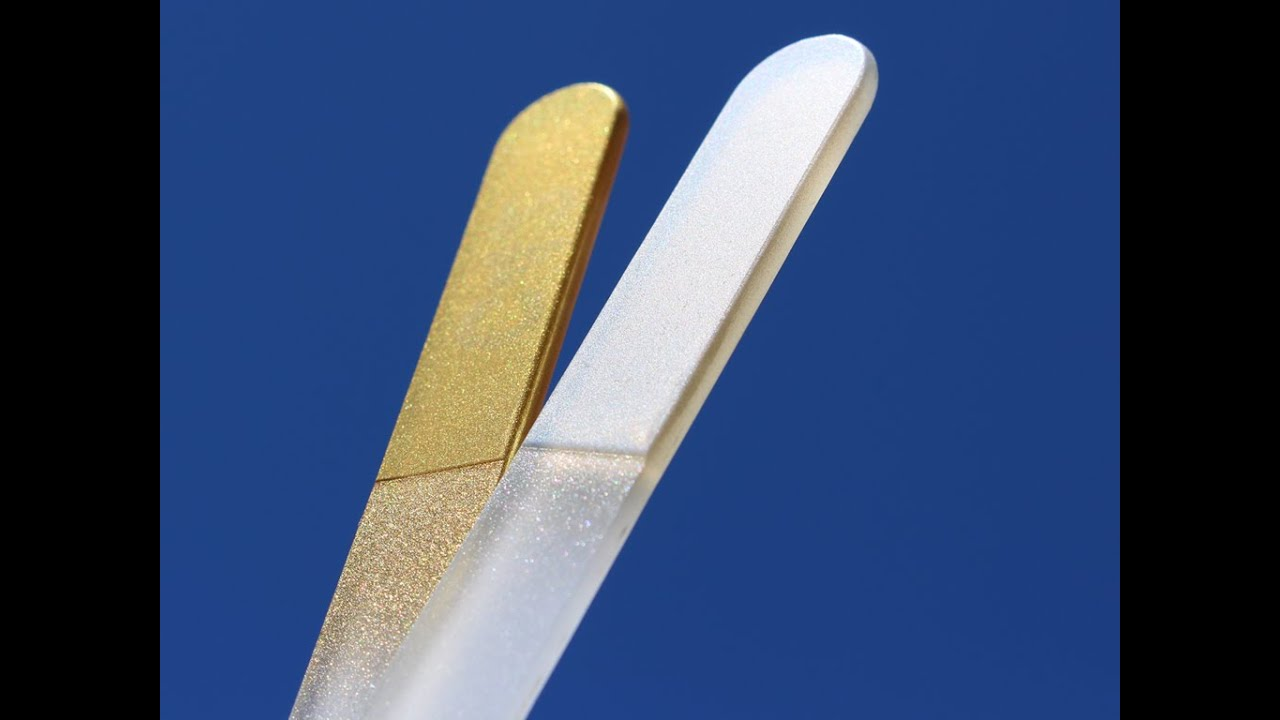 Genuine Czech Glass Nail Files - Gold & Silver Manicure Nail Files ...