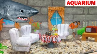 build Awesome Aquarium for Koi and Goldfish - Easy Creative Ideas with Cement