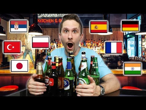 Trying Famous Beer Brands From Around The World
