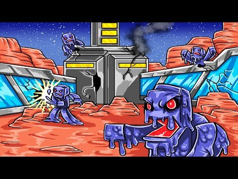 Minecraft   MARS BASE CHALLENGE - Save the World! (Mars Aliens Attack)