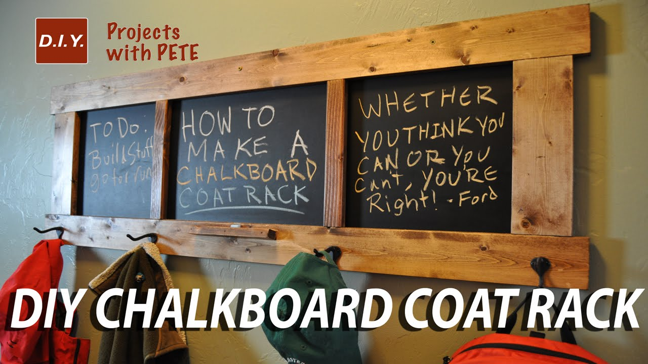 How To Make A Chalkboard Coat Rack Youtube