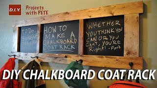 How to make a Chalkboard Coat Rack