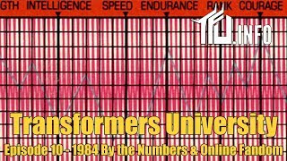By the Numbers & Online Fandom - Transformers University - Episode 010