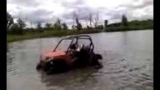 RZR deep in water