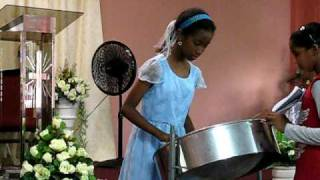 Trinidad Music - Youth plays steelpan - Indian Trail Church