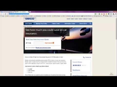 Auto Insurance Estimate From Geico