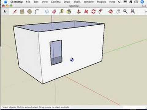 Sketchup making your own doors and windows youtube for Sketchup door
