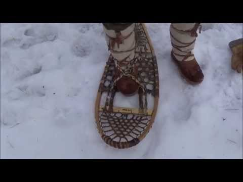 Bushcraft - Traditional Snowshoe Bindings Materials and A Simple Method