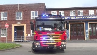 Merseyside Fire & Rescue Service - Pump on shout from St Helens Community Fire Station
