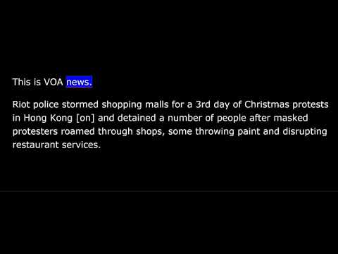 VOA news for Friday, December 27th, 2019