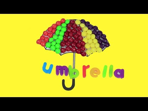 😃😄 Learn colors with Skittles umbrella color it in 😃 😄