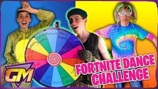 FORTNITE DANCE MYSTERY WHEEL CHALLENGE!! 🎵Kids In Real Life 🎶