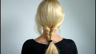 Коса рыбий хвост: как заплести самой себе(Видео о том, как заплести рыбью косу самой себе. Красивая и оригинальная прическа на длинные и средние волосы., 2014-08-04T18:42:40.000Z)