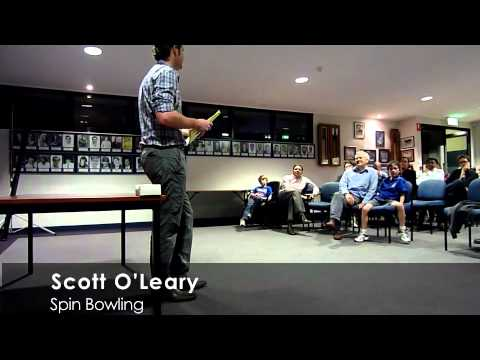 UQCC Forum: Scott O'Leary on Spin Bowling