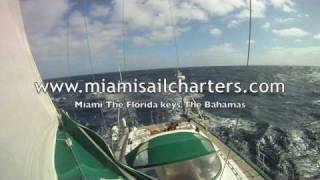 Sailing to Miami at 9 knots