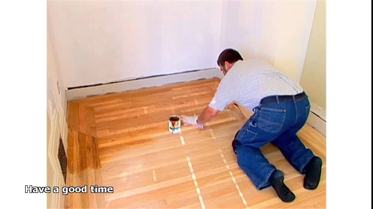 hardwood floor filler - Hardwood Floor Filler - YouTube