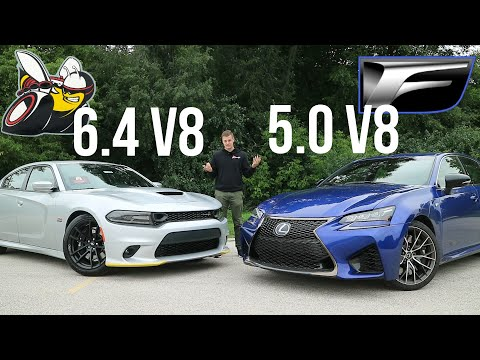 Lexus GSF vs Dodge Charger Scat Pack: $85k Japanese Muscle And $40k American Muscle [Wheel2Wheel]