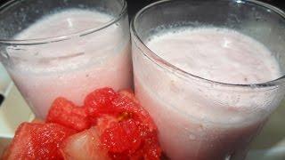 Watermelon Milkshake - Malayalam Recipe