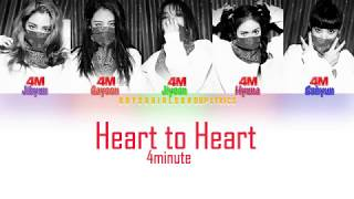 4Minute ( 포미닛) Heart To Heart Lyrics [COLOR CODED LYRICS(HAN…