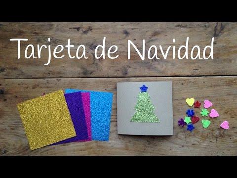 Unas tarjetas de Navidad infantiles con purpurina, ¡la envidia de las felicitaciones!
