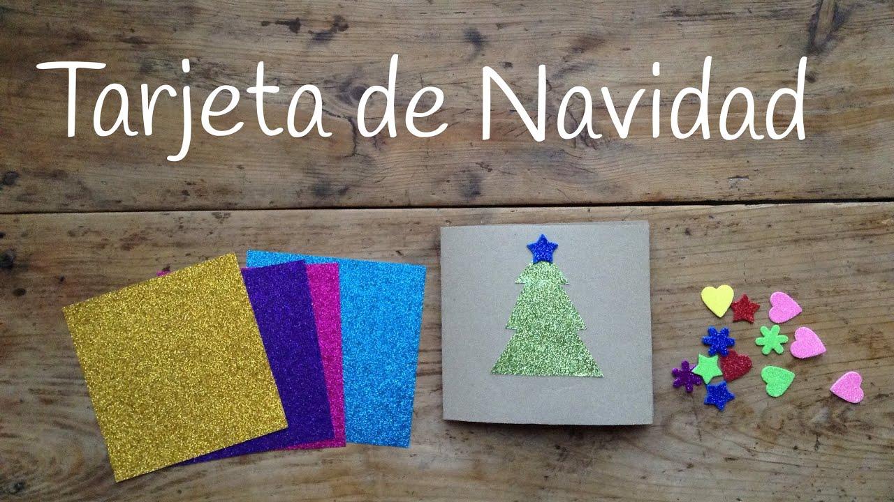 Tarjetas de navidad para ni os f ciles con un rbol de - Tarjetas de navidad faciles ...