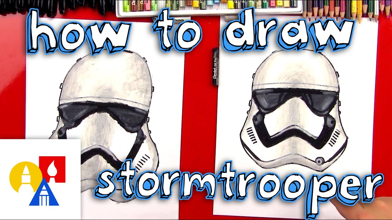 Art For Kids How To Draw A First Order Stormtrooper Helmet Youtube