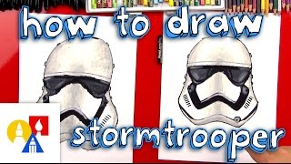How To Draw A First Order Stromtrooper Helmet