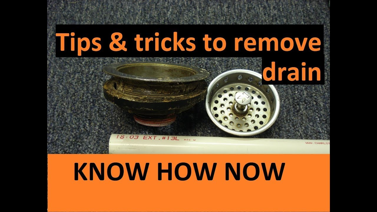 How To Remove Kitchen Sink Stuck Drain Youtube