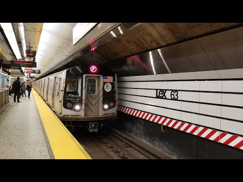 BMT Broadway: Special! Riding R160B Alstom F Train via Q line from Lex Av-63 St to 36 St (9/9/17)