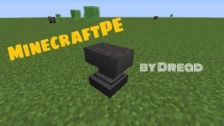 как пользоваться наковальней в Minecraft PE