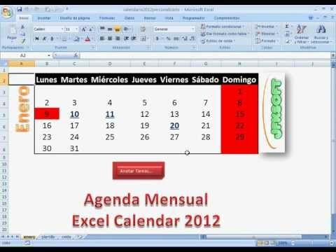 Excel 2010 - Hacer un horario escolar en Excel 2010