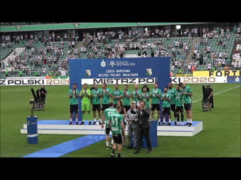 Ceremonia wręczenia nagród, medali i trofeum za tytuł mistrza Polski