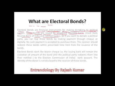 What are Electoral Bonds? Part - 1    Govt of India Initiative   Hindi   English
