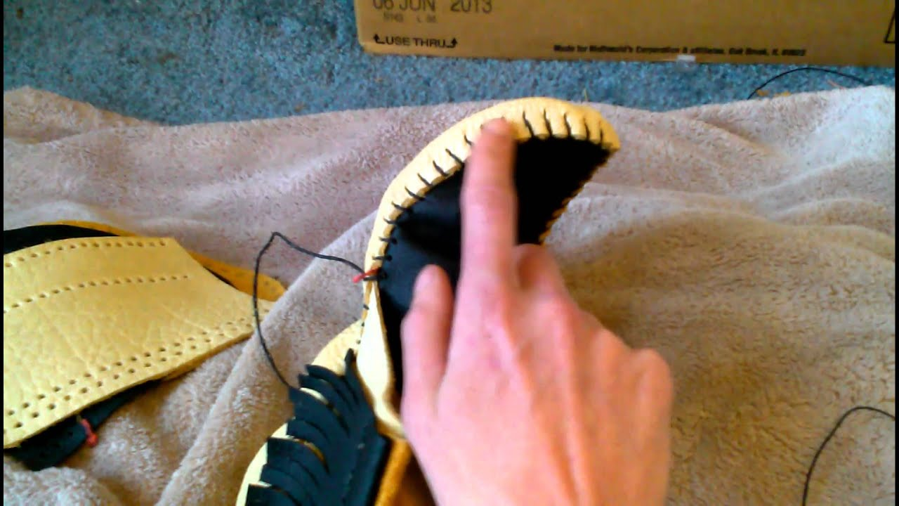 Making Moccasins! (video #73 of 2014) - YouTube