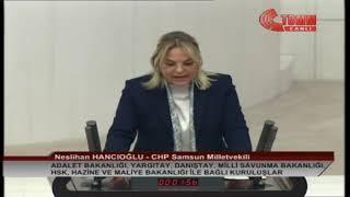 CHP SAMSUN MİLLETVEKİLİ NESLİHAN HANCIOĞLU MECLİS KONUŞMASI-11 ARALIK 2019