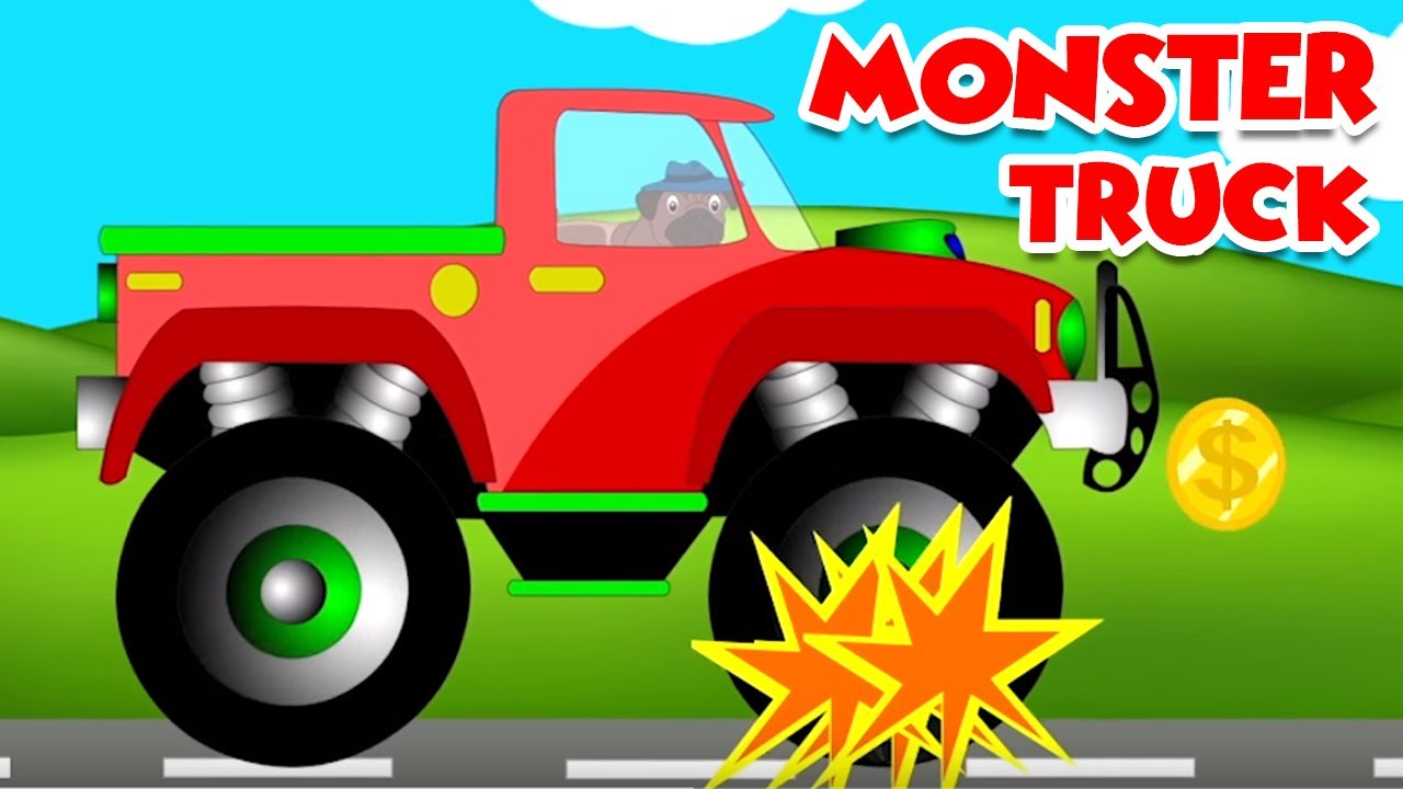 monster truck videos monster truck stunts and games. Black Bedroom Furniture Sets. Home Design Ideas