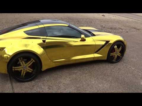 Gold 2015/2014 Corvette c7 AxA