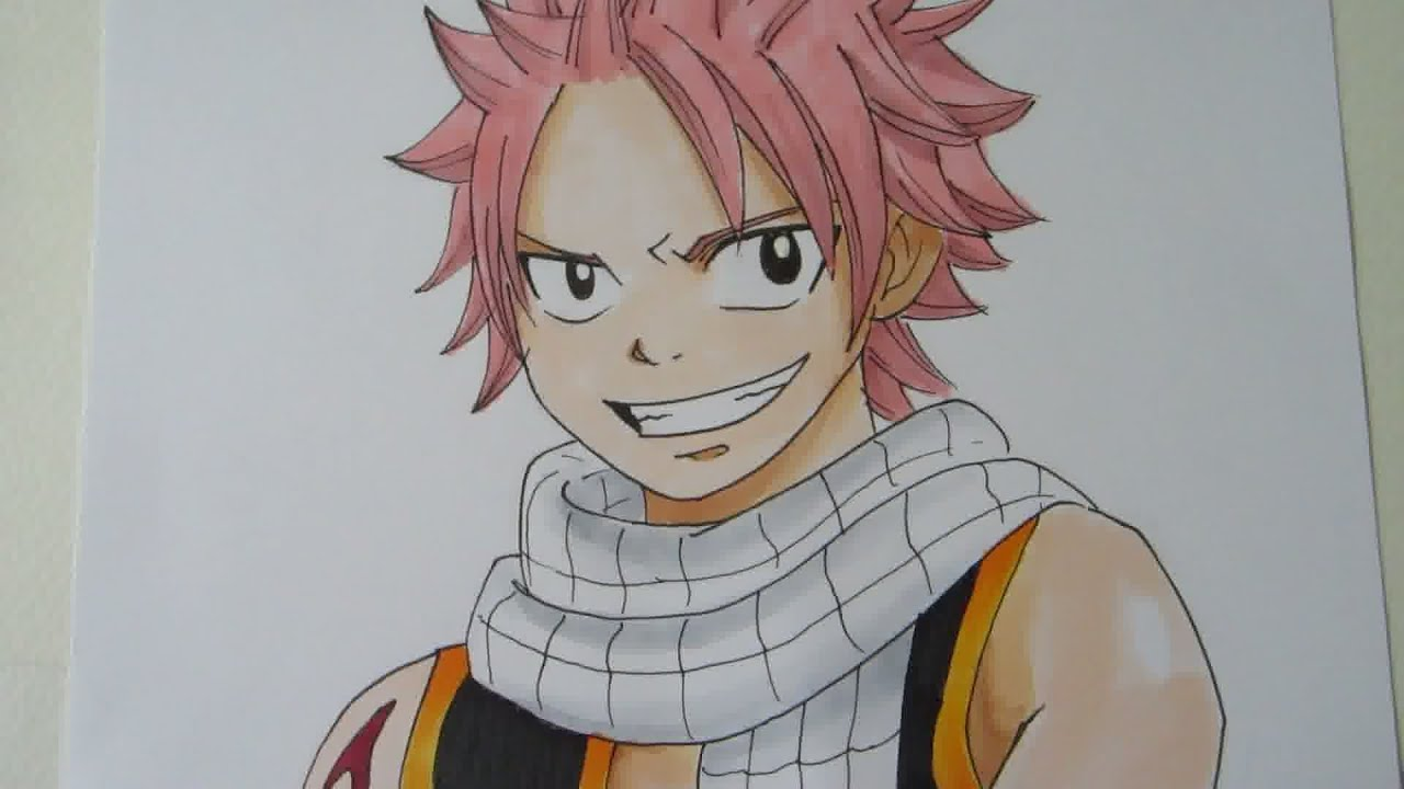 How to draw natsu dragneel from fairy tail youtube - Image natsu fairy tail ...