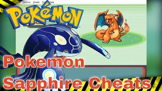 Pokemon Sapphire Cheats - Max Stats, TM, Rare Candy, Master ball, Legendary and More.