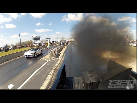 TX2K13 - 1100hp Truck smokes Supercharged...