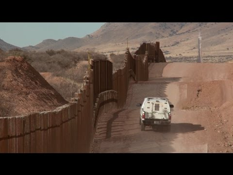 Mexican Border Talking Through Wall