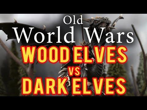 Wood Elves vs Dark Elves Warhammer Fantasy Battle Report - Old World Wars Ep 273
