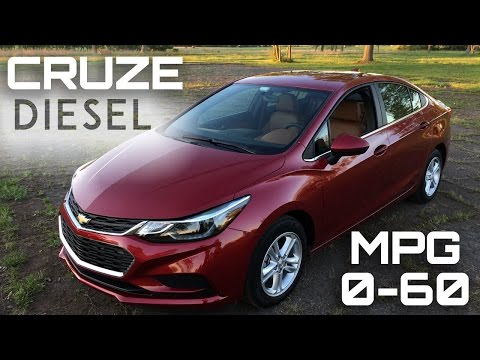 2017 Chevrolet Cruze Diesel Manual 0-60 MPH Review - Highway MPG Road Test