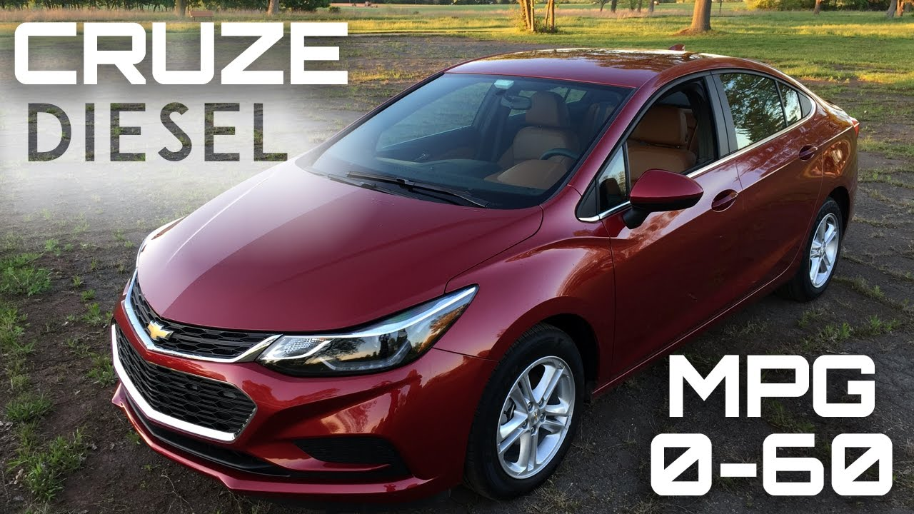 Good 2017 Chevrolet Cruze Diesel Manual 0 60 MPH Review   Highway MPG Road Test